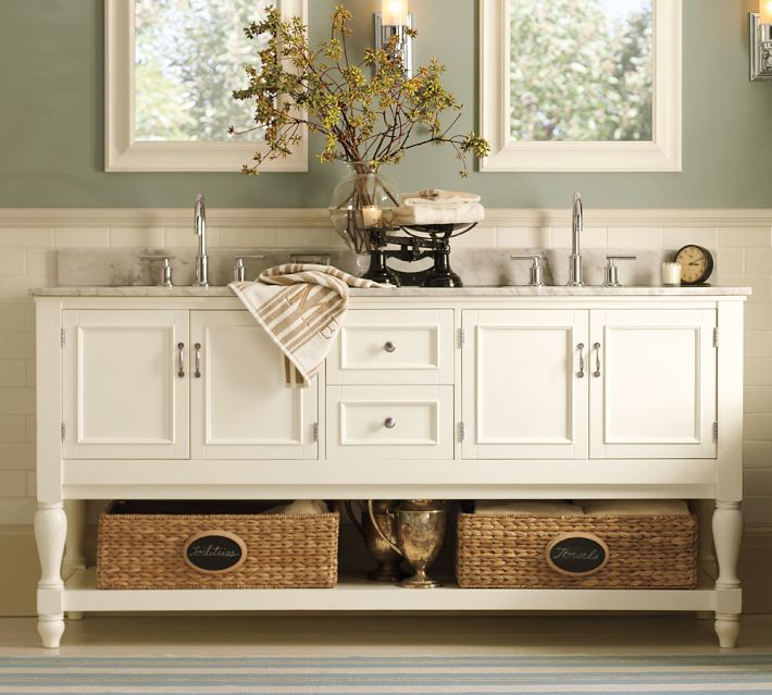 Pottery Barn Newport Double Sink Console