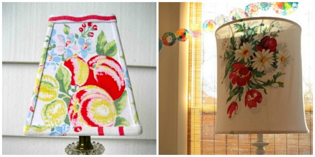 Vintage Tablecloth Lamps