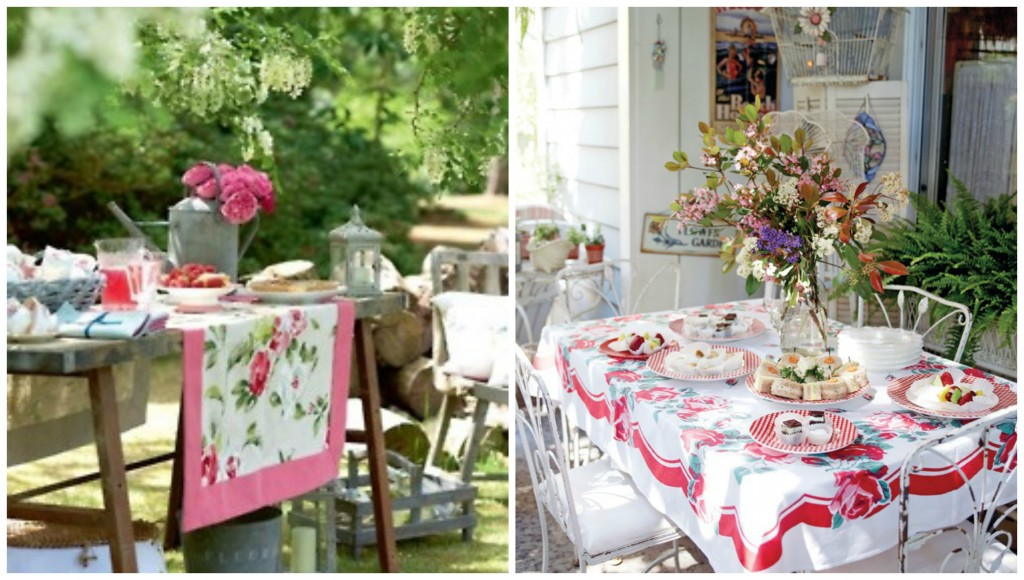 Vintage Tablecloth Dining