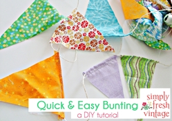 Quick & Easy Bunting …