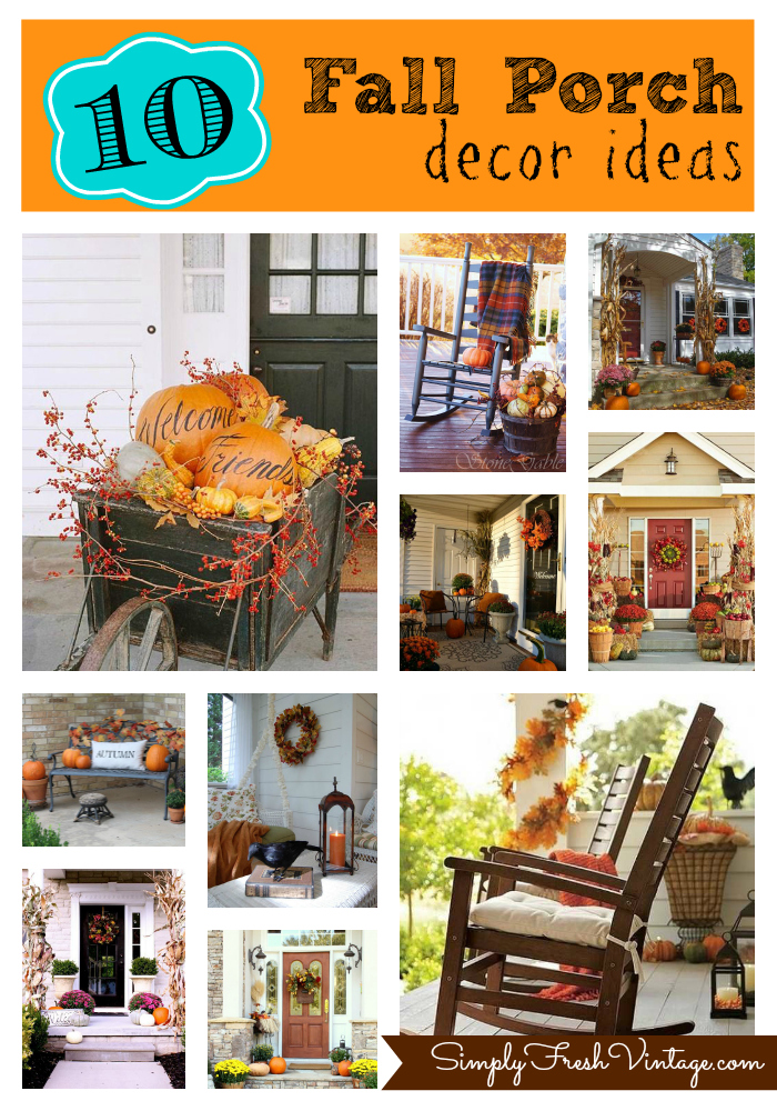 Simply seasonal fall comes to the porch for Vintage outdoor decorating ideas