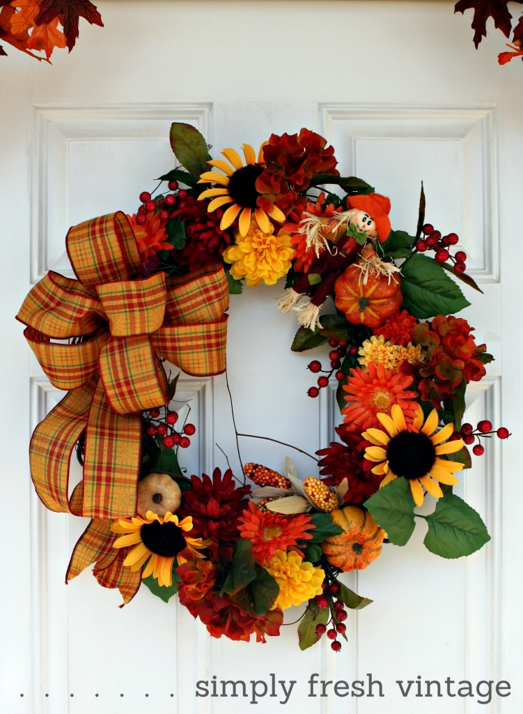 Wreath on the Front Porch
