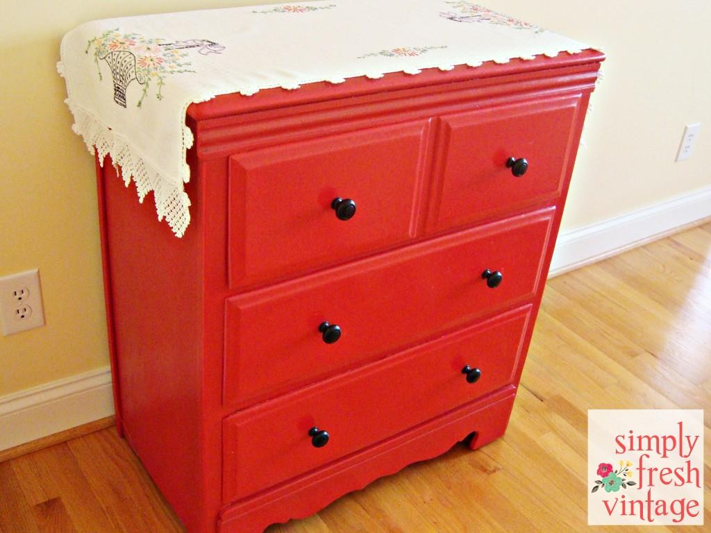 Vintage Dresser Makeover | SimplyFreshVintage.com