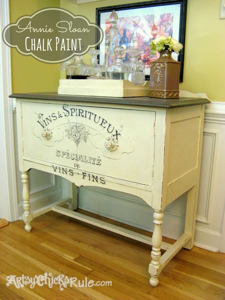 Sideboard Makeover @ Artsys Chicks Rule