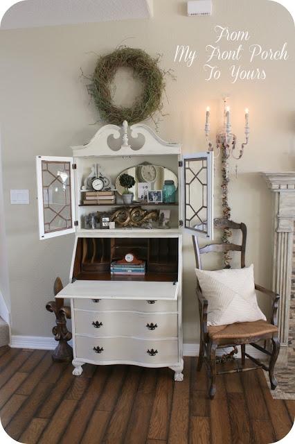 Vintage Secretary Makeover @ From My Front Porch to Yours