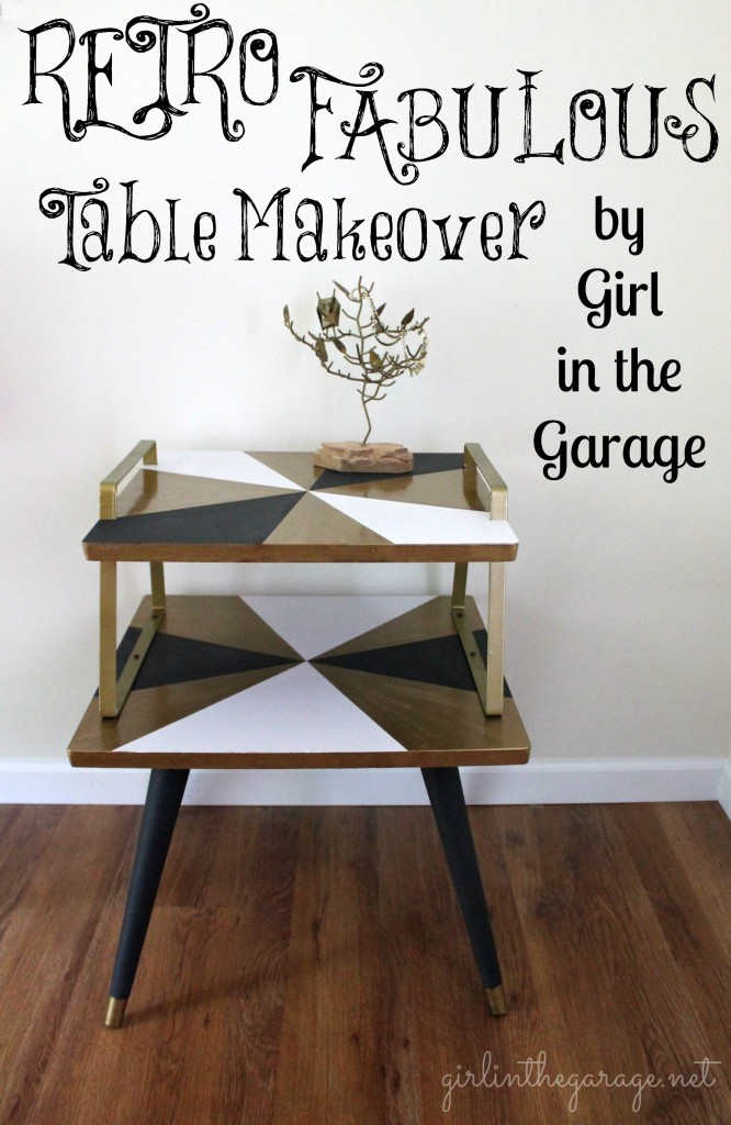 Retro Table Makerover @ Girl In The Garage