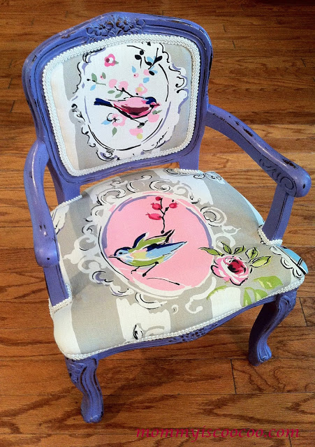 Chalk Paint Chair @ Mommy Is Coo Coo