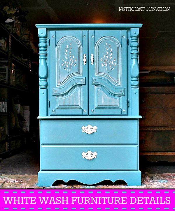 White Wash Furniture Details @ Petticoat Junktion