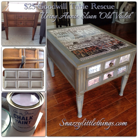 Goodwill Table Upcycle @ Snazzy Little Things