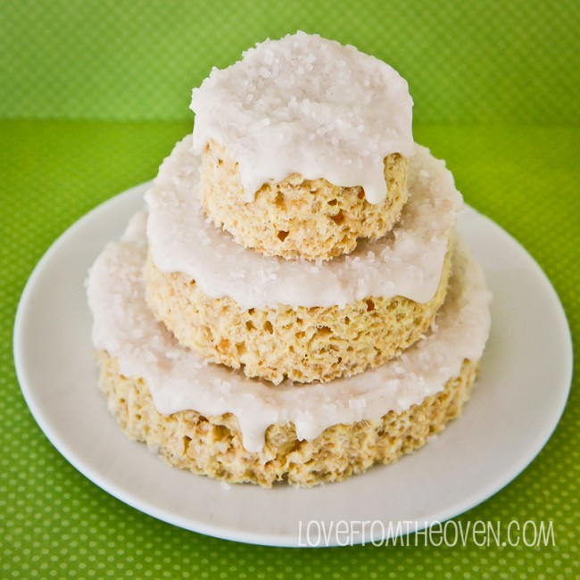 Eggnog Frosted Rice Krispies Treats ... Love From the Oven
