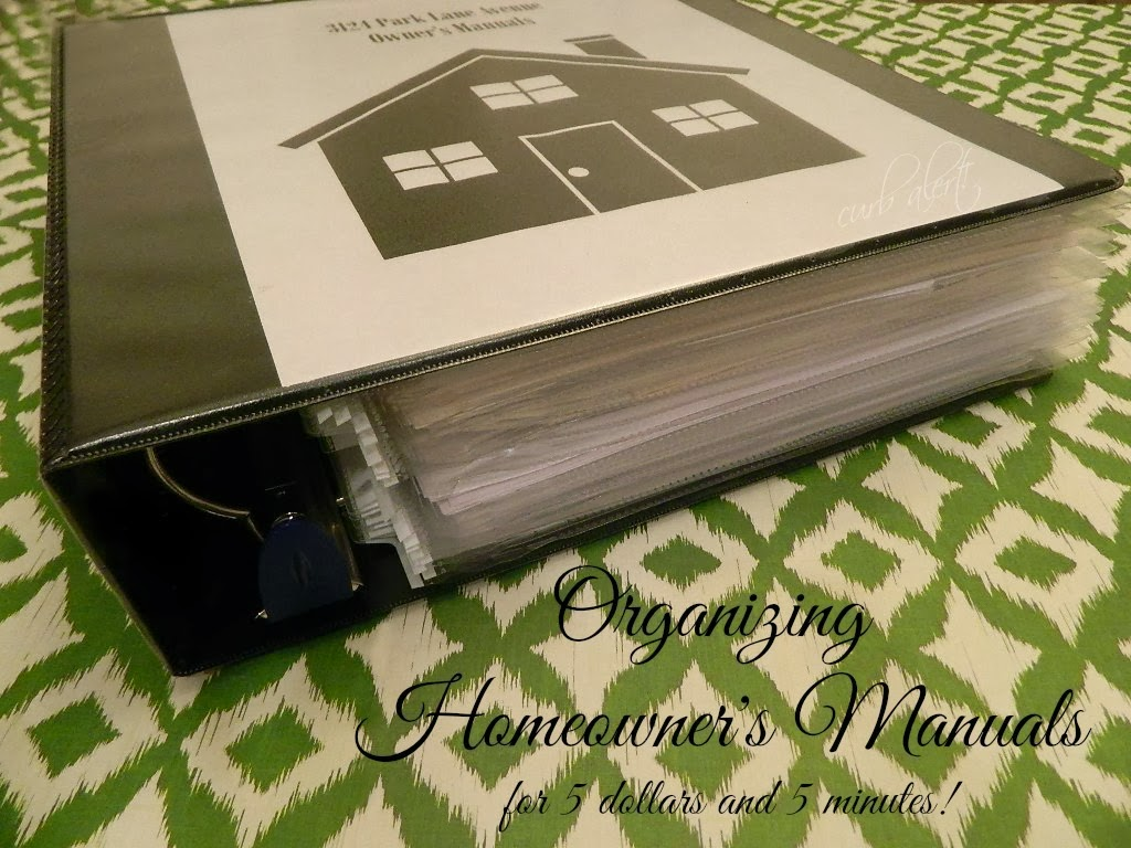 Homeowner's Manuals Binder