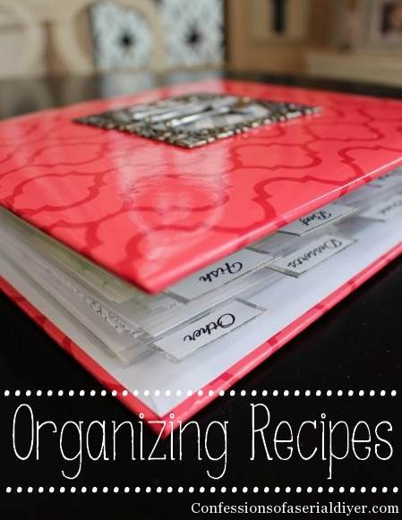 Recipe Organization ... Confessions of a Serial DIYer
