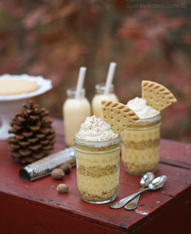 Shortbread & Eggnog Pudding Trifles ... Sprinkle Bakes