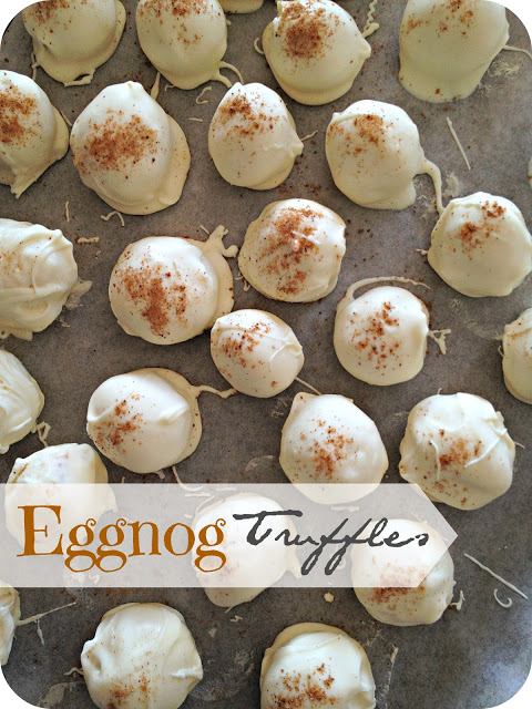 Eggnog Truffles ... Life's Simple Measures