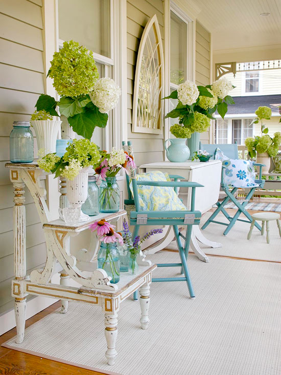 On the Porch ~ BHG | SimplyFreshVintage.com