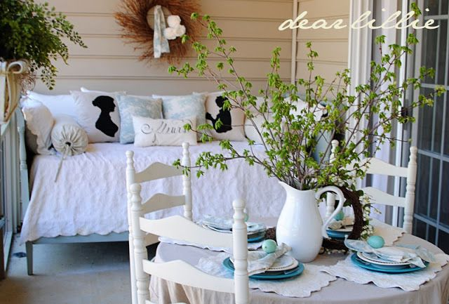 On the Porch ~ Dear Lillie| SimplyFreshVintage.com