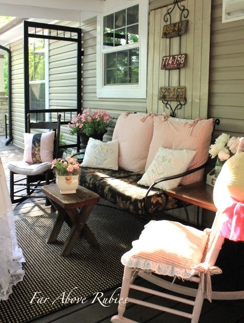 On the Porch ~ Far Above Rubies| SimplyFreshVintage.com