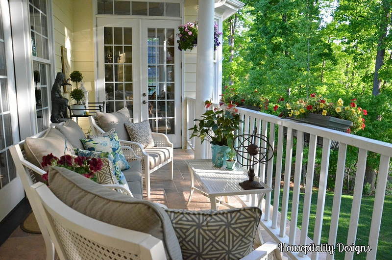 On the Porch ~ Housepitality Designs| SimplyFreshVintage.com
