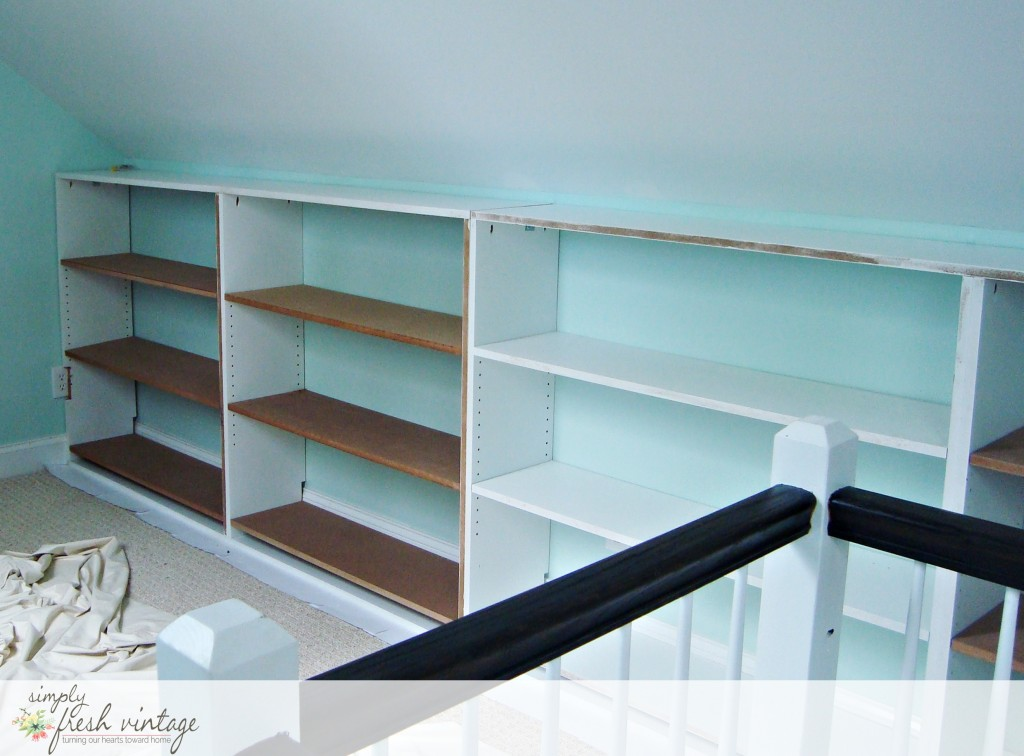 DIY Bookshelves | Simply Fresh Vintage