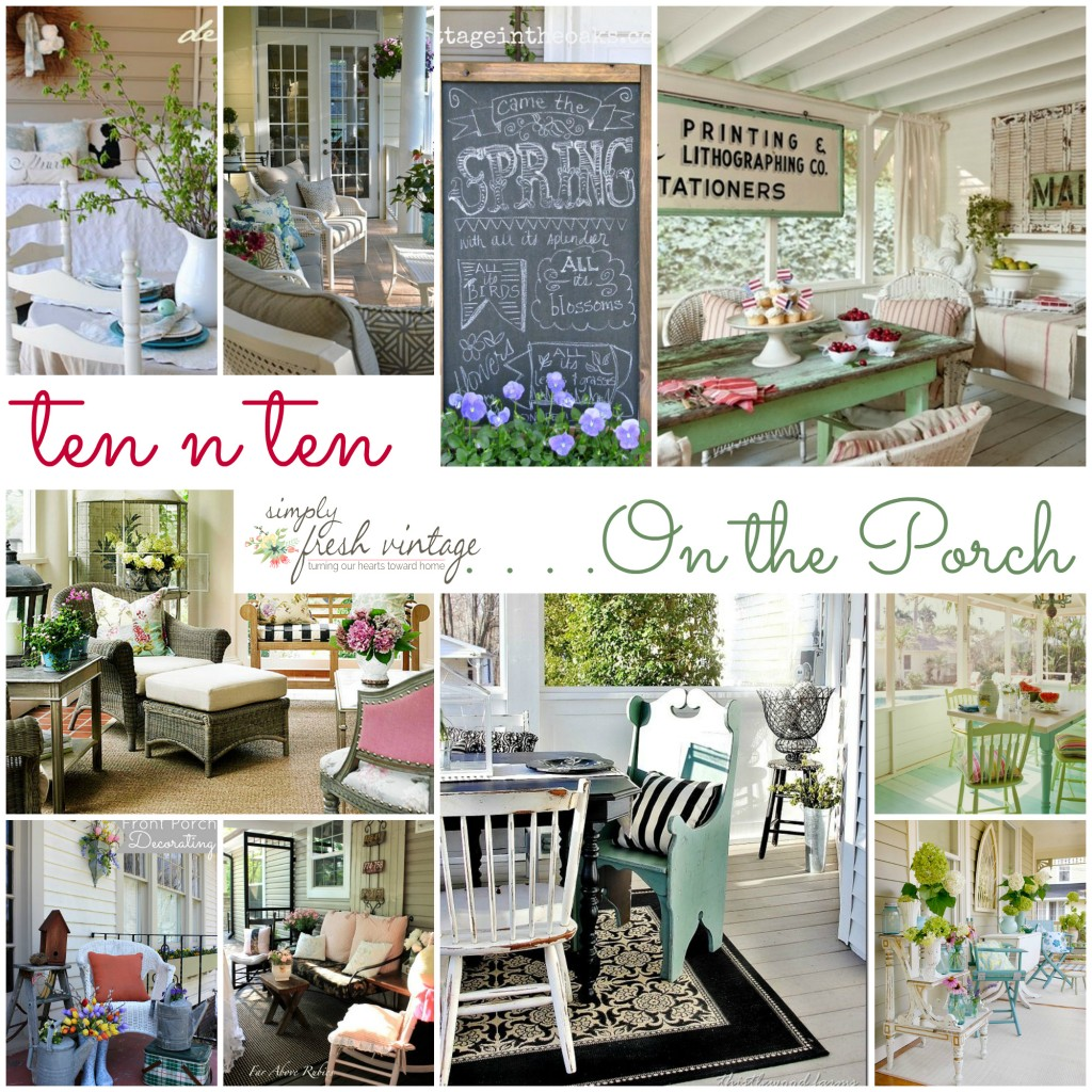 On the Porch | SimplyFreshVintage.com