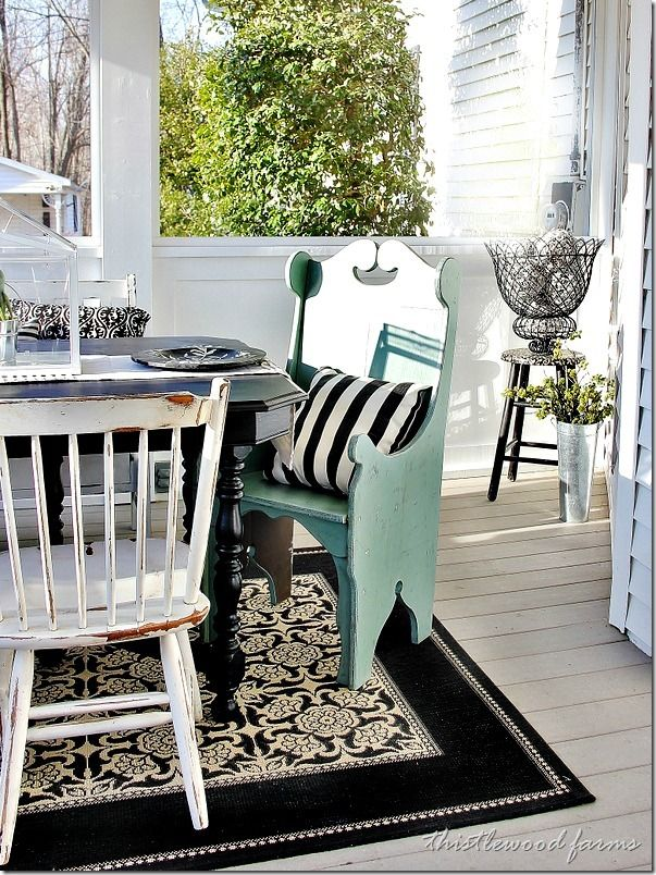 On the Porch ~ Thistlewood Farms| SimplyFreshVintage.com