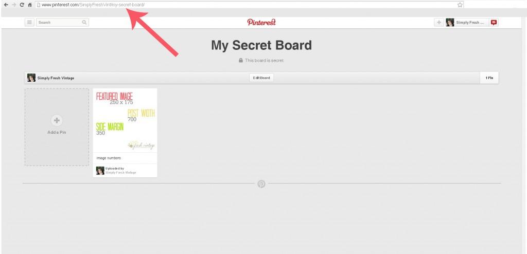 Working with Pinterest Secret Boards | SimplyFreshVintage.com