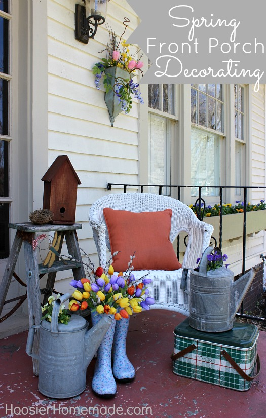 On the Porch ~ Hoosier Homade| SimplyFreshVintage.com