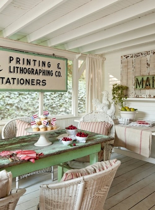 On the Porch ~ Houzz | SimplyFreshVintage.com