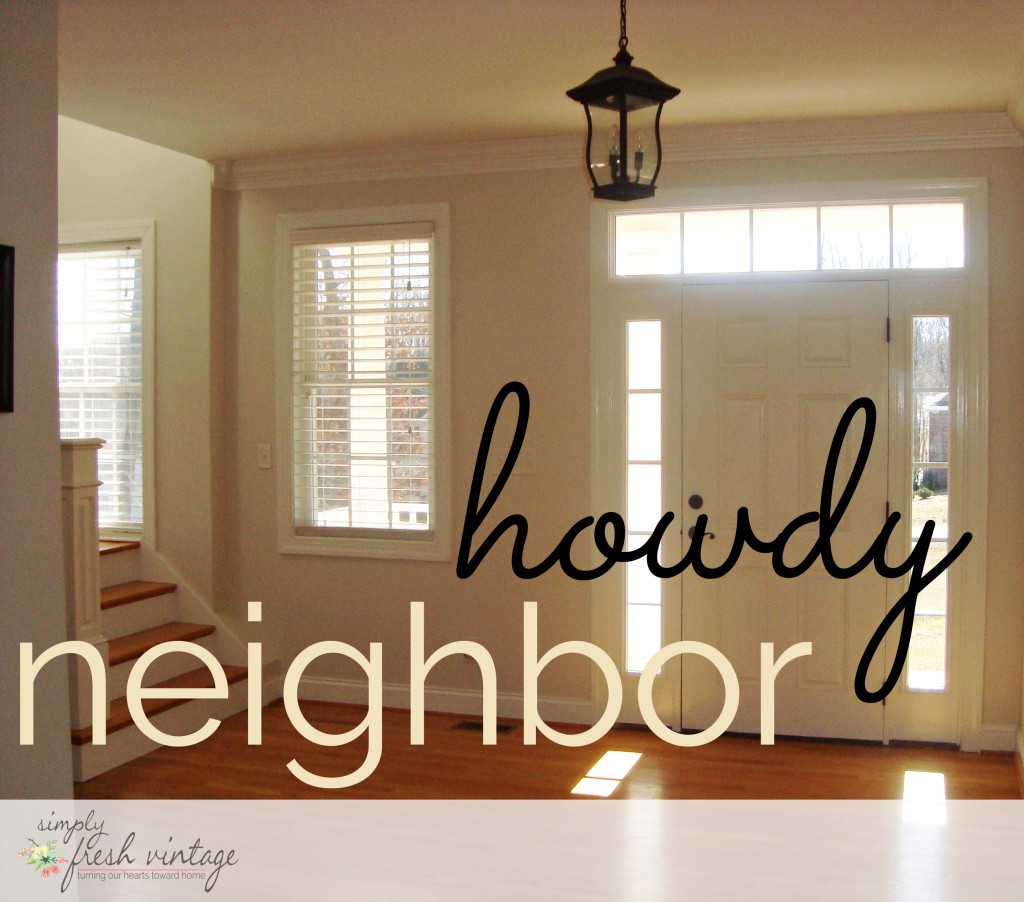 Howdy Neighbor | SimplyFreshVintage.com