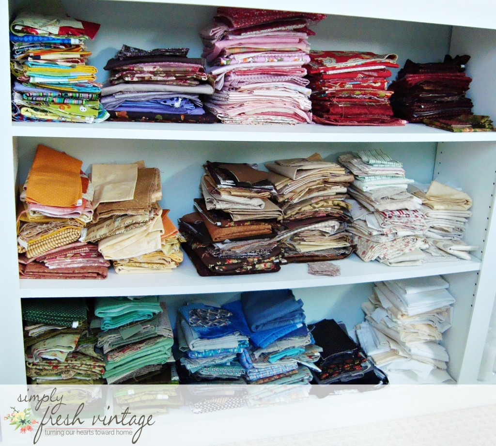 Colorful Fabric Stash | Simply Fresh Vintage