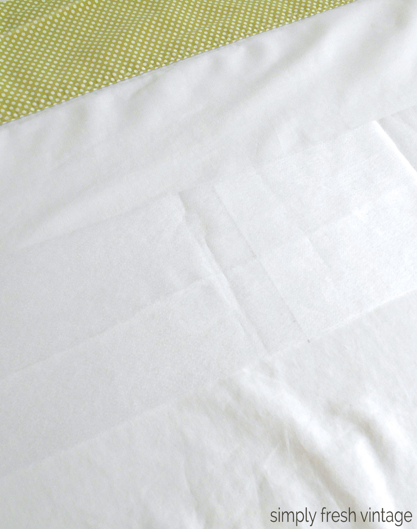 How to Repair a Torn Sheet | SimplyFreshVintage.com