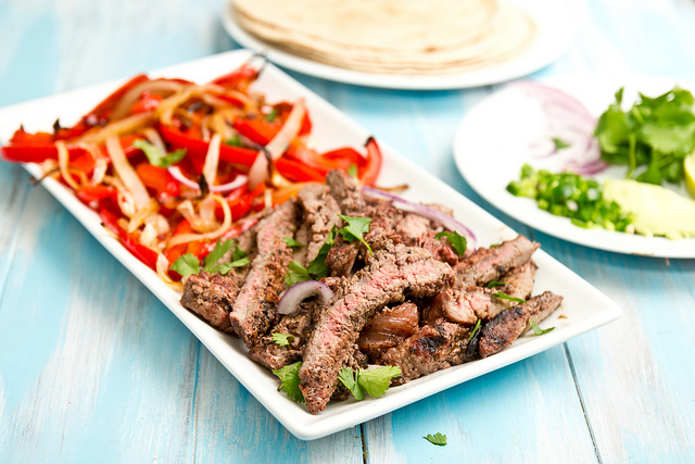 Grapefruit Marinated Fajitas ~ JasonAndShawnda.com | SimplyFreshVintage.com