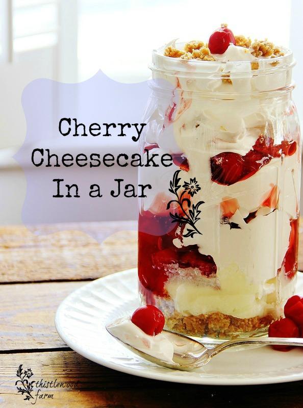 Cherry Cheesecake Roundup ~ ThistlewoodFarms.com | SimplyFreshVintage.com