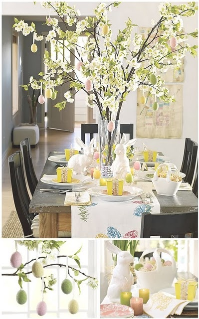 Easter Tablescapes ~ Everything Fabulous | SimplyFreshVintage.com