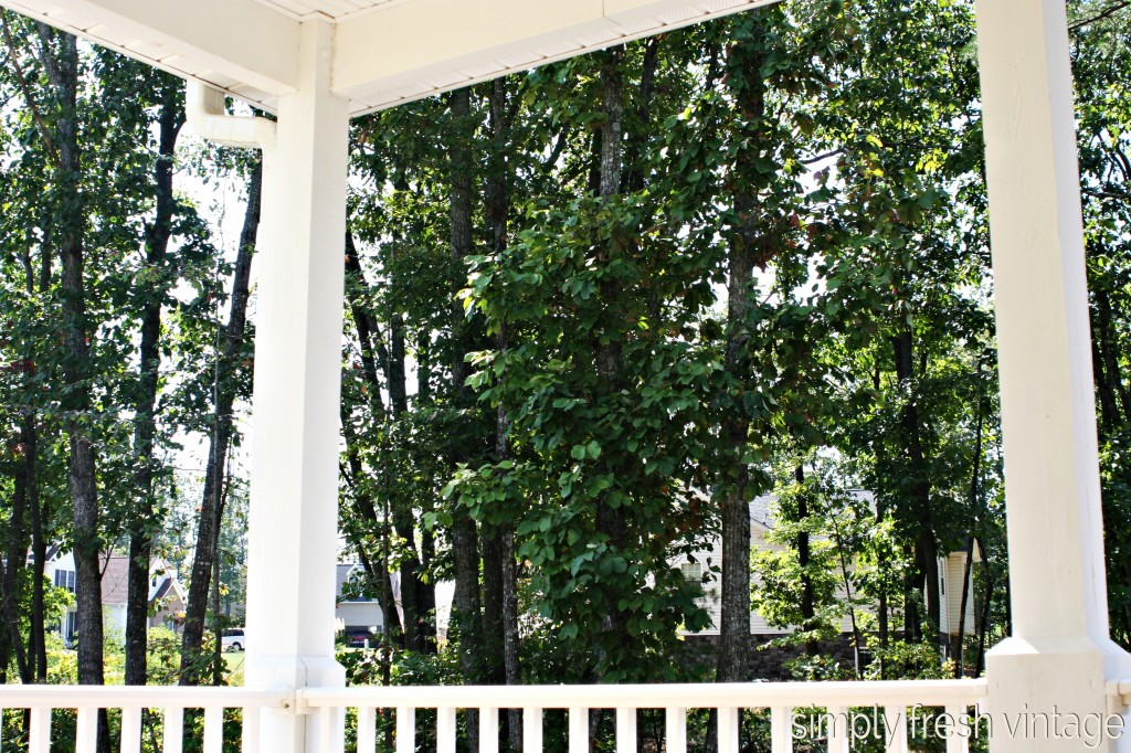 Side Porch Makeover ... part one | SimplyFreshVintage.com
