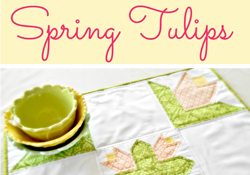 Spring Tulips Tabletopper … Free Pattern