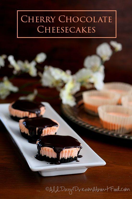 Cherry Cheesecake Roundup ~ AllDayIDreamAboutFood.com | SimplyFreshVintage.com