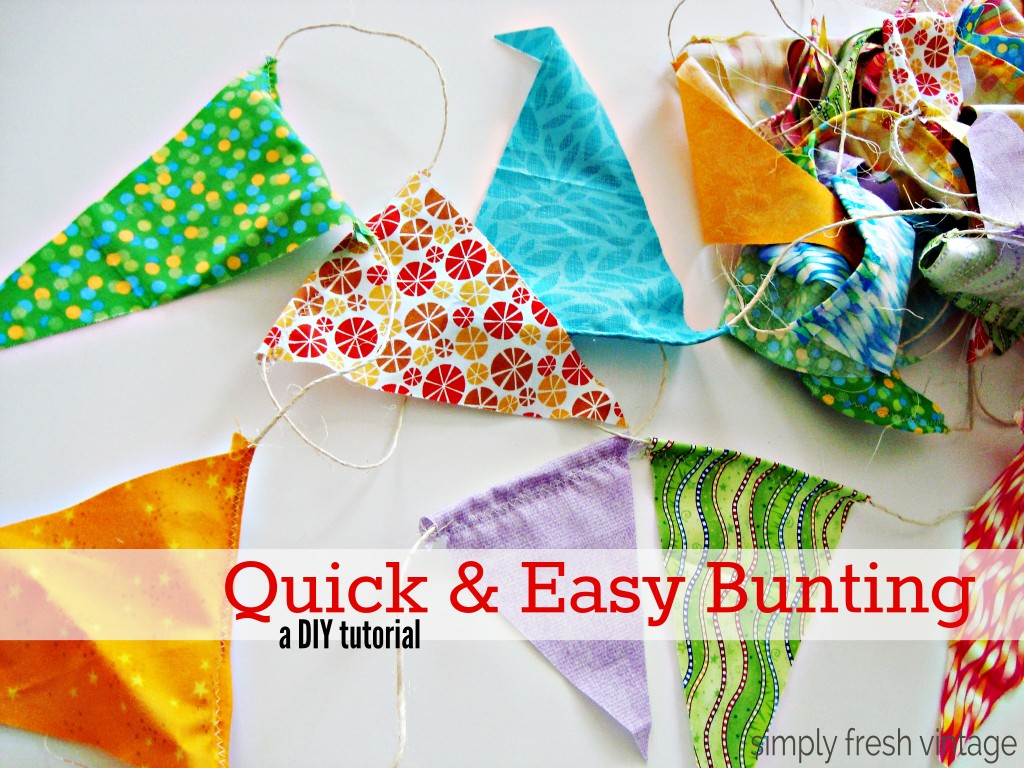 Quick & Easy Bunting from SimplyFreshVintage.com
