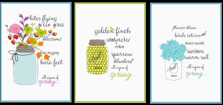 Spring Printables ~ Creative Cain | SimplyFreshVintage.com