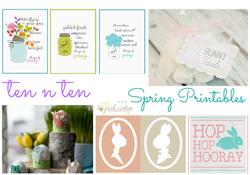 Ten 'n Ten:  Spring Printables