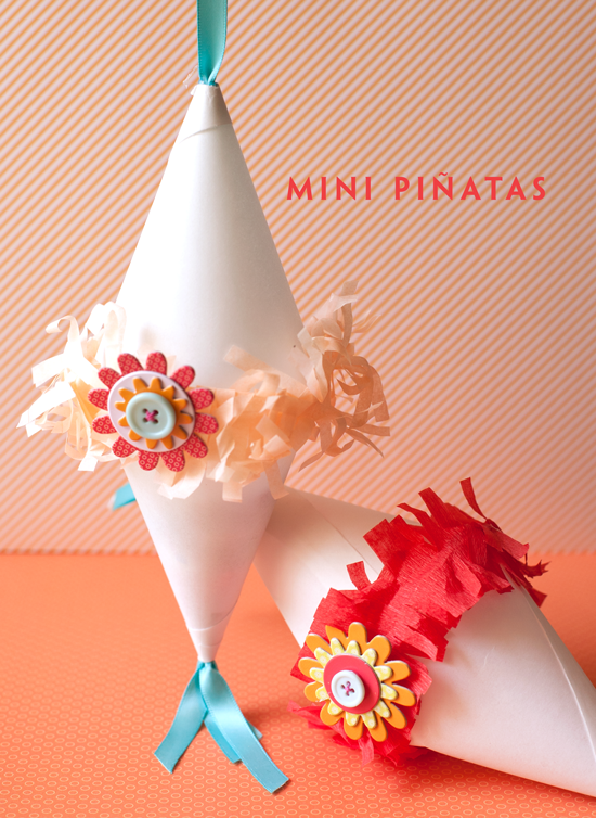 Mini Pinatas ~ OneCharmingParty.com | SimplyFreshVintage.com