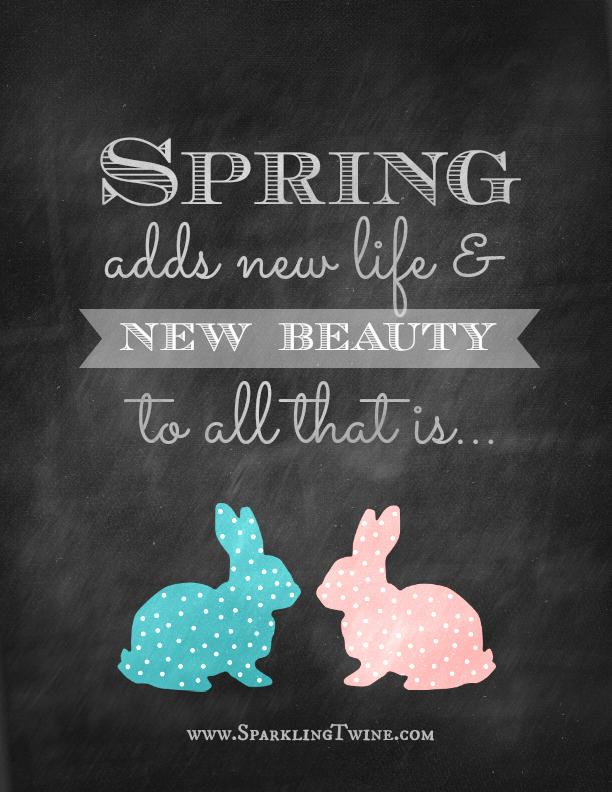 Spring Printables ~ Sparkling Twine | SimplyFreshVintage.com