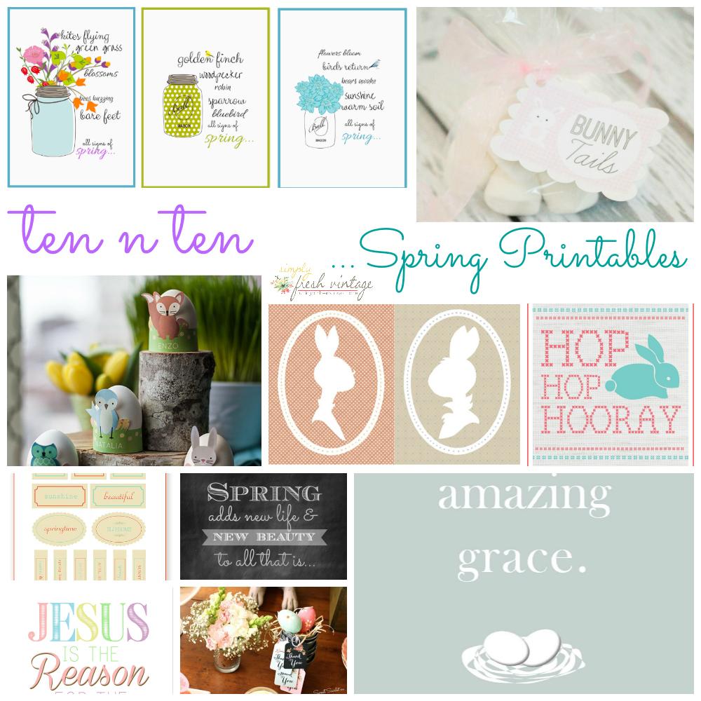 Spring Printables | SimplyFreshVintage.com