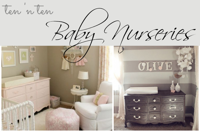 "Ten 'n Ten: Baby Nurseries & a ""Grand"" Announcement"