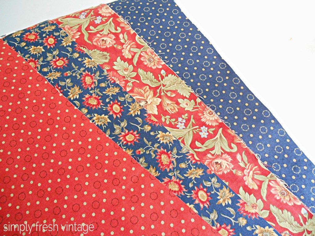 Red & Blue Fabric