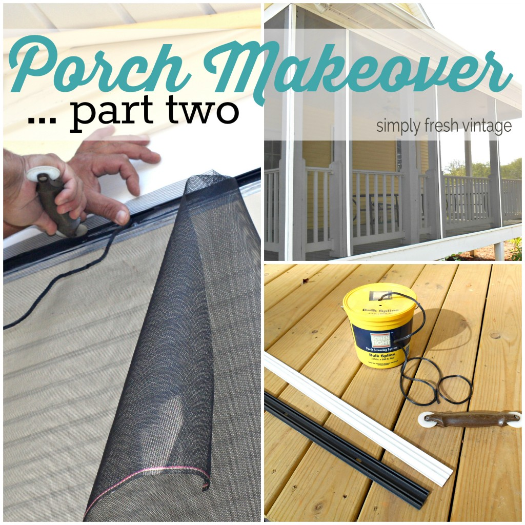 DIY Screened Porch | SimplyFreshVintage.com