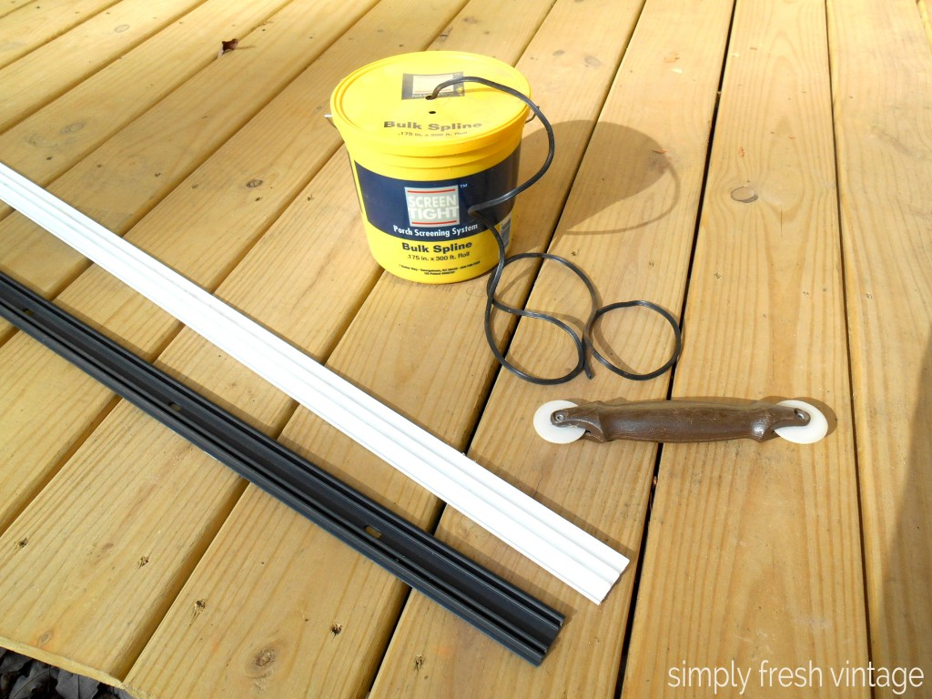 Porch Makeover - Screen Installation | SimplyFreshVintage.com