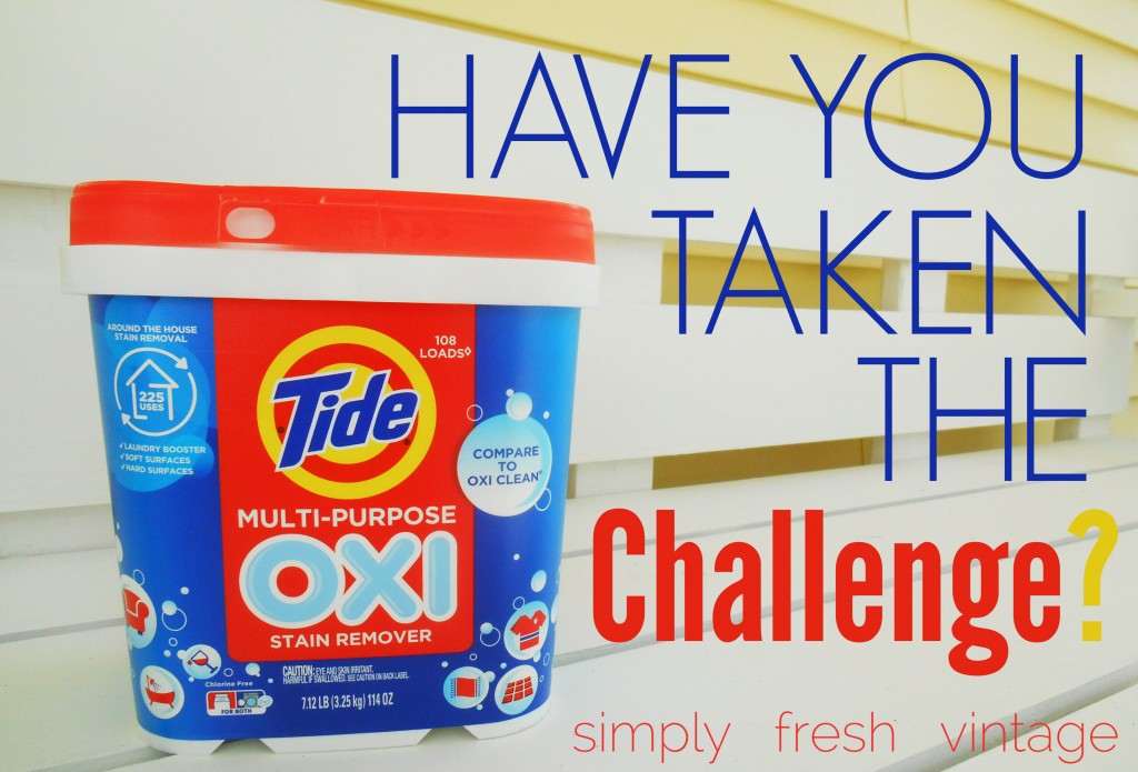 Tide OXI Challenge | SimplyFreshVintage.com