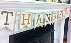 Thankful Banner / Bunting Tutorial ... from SimplyFreshVintage.com