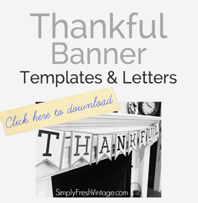 Thankful Banner Templates and Letters ... part of the tutorial from SImplyFreshVintage.com